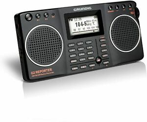 Eton Grundig G2 AM / FM / Shortwave Radio, Recorder - Black, NG2B (NEW)