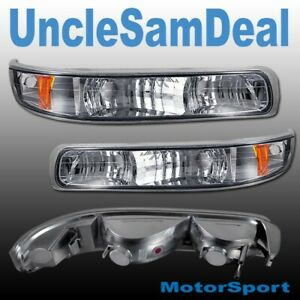 CHEVY SILVERADO SUBURBAN TAHOE EURO CLEAR CHROME CORNER LIGHT PAIR