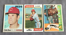Vintage Baseball Card Lot Pete Rose, Mike Schmidt, Bob Gibson (3)