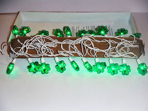 ST PATRICKS DAY SHAMROCK LIGHTS 20 CT..STRING LIGHTS