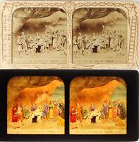 Vida De Jesús Religión Tumba, Foto Estéreo Diorama Albúmina PL59ST3n8