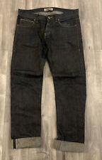 Mens Naked And Famous Selvedge Redlines Indigo Denim Jeans Size