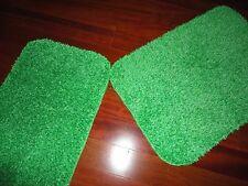 RARE VINTAGE BRIGHT GREEN SHAG RETRO 70'S MID CENTURY STYLE (2PC) BATH RUGS
