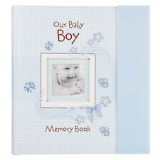 Our Baby Boy Memory Book: First Year Baby Book & Gift Keepsake, Blue Gingham