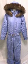 OBERMEYER Chamonix Women's Fur Hood Lilac Snow Suit Belt 1PC Insulated SZ 10