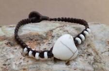 Beads Handmade Hippie Bohemian Bracelet Women Bracelet Howlite Heart charm Bone