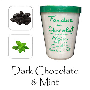 Chocolate Fondue Aux Anysetiers du Roy Dark Chocolate & Mint After Dinner Party