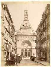 J.D. France, Paris, comptoir d'Escompte  vintage albumen print.  Tirage a