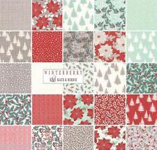 CHRISTMAS MODA ' Winterberry ' Modern Colours Kate & Birdie Fabric Fat Quarter