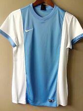 NIKE Ladies Athletic Shirt Top Apparel Dri-Fit Blue/White Sz Medium NWT