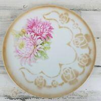 Kahla Germany Serving Platter Plate Pink Gold Floral Flowers 12 inch Vintage