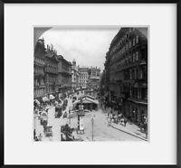 Vintage c1916 Jan. 13. photograph: Traffic in the busy Graben, Vienna, Austria-H