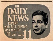 1958 Tv Ad~BILL NIMMO NEWSCASTER~WPIX NEWS in NEW YORK CITY~DAILY NEWS UPDATE