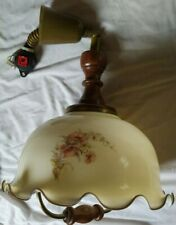 Glass Ceiling Light Shade Fitting Vintage Retro Victorian Style Rise N Fall