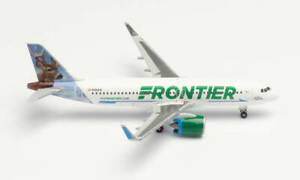 Herpa Wings 534833 Frontier A320neo 'Wilbur The Whitetail' 1/500 Scale Model