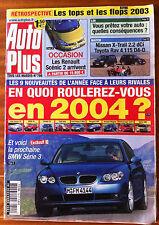 AUTO PLUS du 30/12/2003; Match Nissan X Trail 2.2 Dci - Toyota Rav 4 115 D4-D