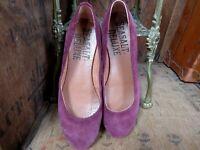 25d580f7fb85 SEASALT CORNWALL DELUXE Suede Leather Ballerina Pumps Flats Shoes Sz 38 UK 5