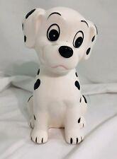 "Vintage Disney Japan 101 Dalmatians Dalmations Ceramic Piggy Bank Coin Bank 7"""