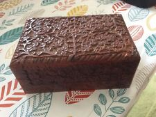 Carved Wooden Jewellery/Trinket box