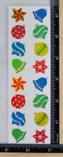 Mrs Grossman ORNAMENTS SPARKLE Stickers CHRISTMAS