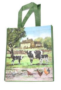 Farm Cows Chicken Hen Shopping Bag 40cm x 35cm Shopping Bags Reusable