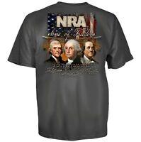 NRA SONS OF FREEDOM USA RIFLE FLAG GUN MILITARY BLACK MENS T TEE SHIRT S-3XL