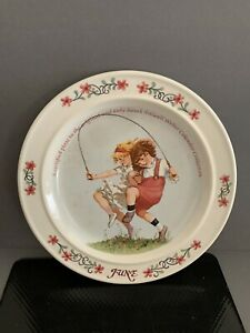 1984 Newell Pottery Sarah Stilwell June Weber Calendar Series Collector Plate