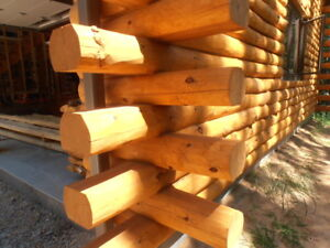 """6"""" Extra Thick, Natural, Rustic, Hand-Peeled, """"Real Log"""" Cabin Siding Wholesale"""