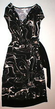 New Womens Maternity Dress Motherhood Black Brown Small White Faux Wrap Nice