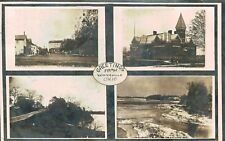 RPPC,Waterville,Ohio,4 Views,incl.Third Street,Lucas County,Used,1911