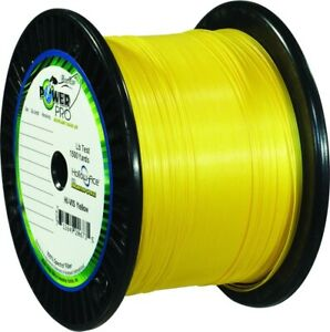 Power Pro 21100501500Y Spectra Braid Fishing Line 50 lb 1500 Yd Yellow High Vis