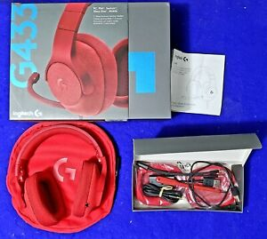 Logitech G433 Red Headband Headsets for PC, PS4, Xbox One and Mobile