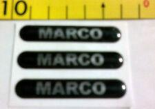 Logo Fregio con Nome in Resina 3 pezzi MARCO