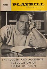 "Jack Klugman Playbill ""Sudden and Accidental Re-Education of Horse Johnson"" 1968"