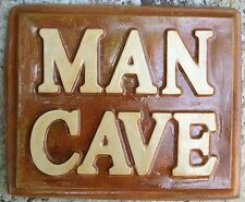 Man Cave 1 stepping stone, hanging art  plastic mold, concrete mold, plaster