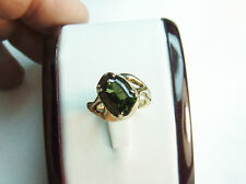 9 carat yellow gold handmade natural earth-mined tourmaline gemstone ring