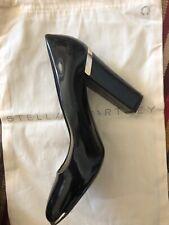 Stella McCartney Heels Black Faux Patent Leather Excellent Condition Size 38.5