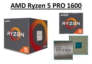 AMD Ryzen 5 PRO 1600 Hexa Core Processor 3.2 - 3.6 GHz, Socket AM4, 65W CPU Only