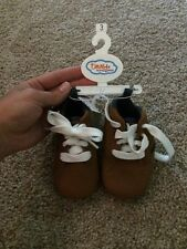 Truly Scrumptious Toddler Boys Brown Soft Lady Shoes Size 3 New