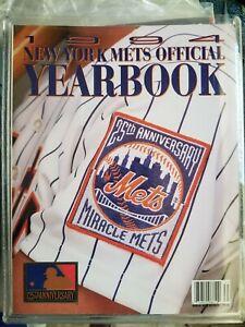 1994 NEW YORK METS YEARBOOK 25TH ANNIVERSARY  NEAR MINT    GROBEE1957