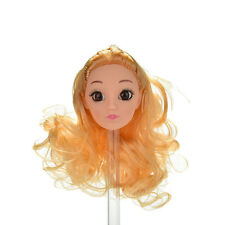 """1 Pcs Doll Head Golden Long Curly Hair for 11"""" Barbies Dolls P&C"""