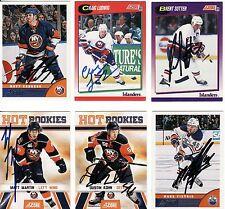 DUSTIN KOHN, SHEFFIELD STEELERS/NEW YORK ISLANDERS, RARE AUTO'D/SIGNED NHL CARD.
