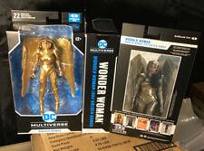 "McFarlane Dc Multiverse Wonder Woman Gold Armor 7"" Action Figure Window Box"