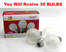 (30-Pack) Frosted Light Bulbs 100W 110V A19 Medium Base Clear Lamps NEW USA