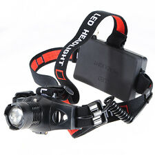1200Lm Linterna Frontal Luz Headlight Headlamp Q5 LED Camping Pesca Caza T5