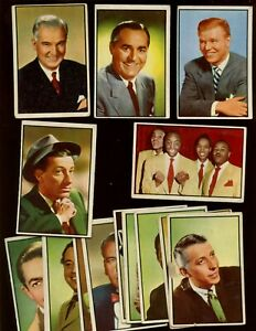 1955 Bowman TV & Radio Stars of NBC Non Sport Trading Card Lot 15 Different G/EX
