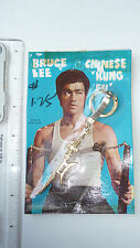 RARE - 1970s Bruce Lee Keychain, golden Semi-Halberd - SEALED