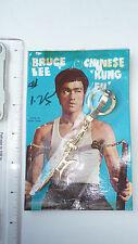 RARE - 1970s Bruce Lee Keychain, golden Semi-Halberd - SEALED