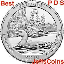 2018 P D S Voyageurs National Park Quarter Minnesota PDS Mint ATB Best Voyagers