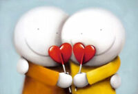 Sweethearts by Doug Hyde. Signed, Numbered, MOUNTED ONLY In Stock.